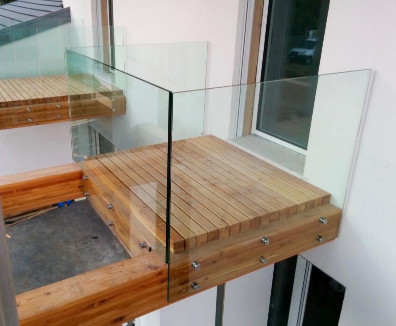 vetreria gottardi, balcone in vetro, parapetto, parapetto esterno