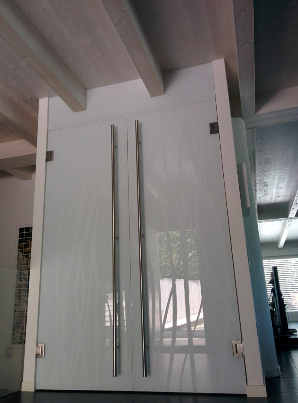 vetreria gottardi, porte temperate, porta temperata, vetro nuvola, porta scorrevole, scorrevole in vetro
