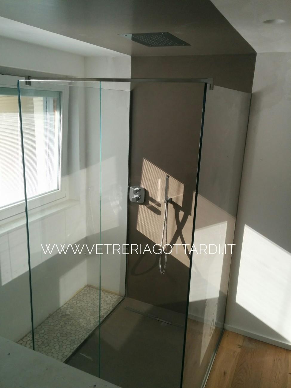 vetreria gottardi, gottardi pergine, doccia, vetro, doccia in vetro, docce, doccia trasparente, doccia ad anta, vetro, walk in